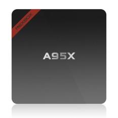 A95X Smart Android TV Box Android 6.0 Amlogic S905X Quad-Core 64 Bit VP9 UHD 4 K 1g /8g Mini PC WIFI & LAN H.265 DLNA Miracast HD Media Player Steker AS-Internasional