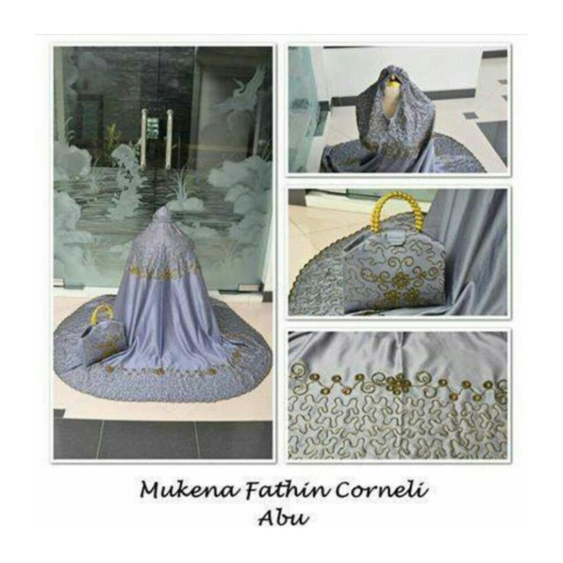 Spesifikasi Abangsky Stelan Mukena Fathin Corneli Abu Tas Mutiara Online