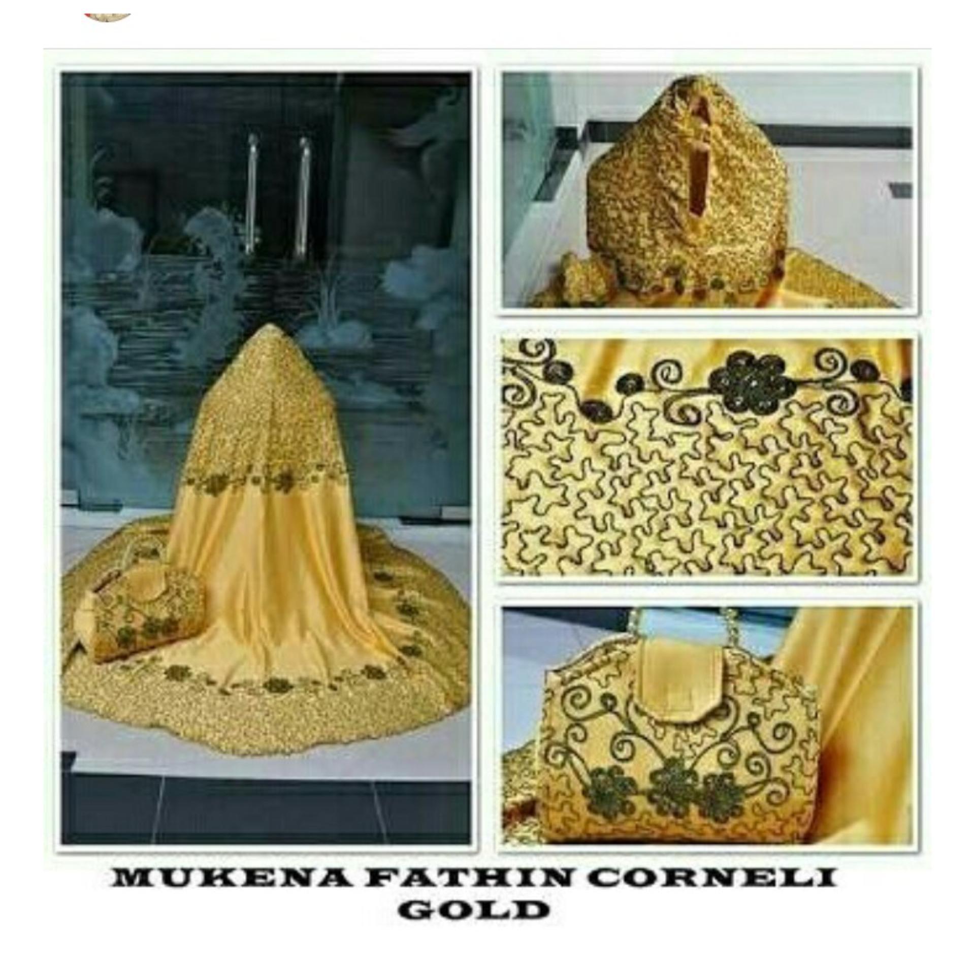 Beli Abangsky Stelan Mukena Fathin Corneli Gold Tas Mutiara Dki Jakarta