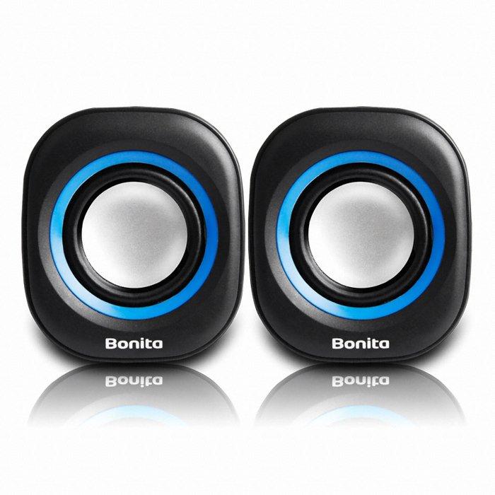 Abko Bonita SP10 Mini Stereo Portable Speaker Hitam/Biru (Intl)