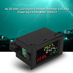 AC 80-300 V 100 Warna LCD Digital Voltmeter Ammeter Volt Amp Power KWh Meter