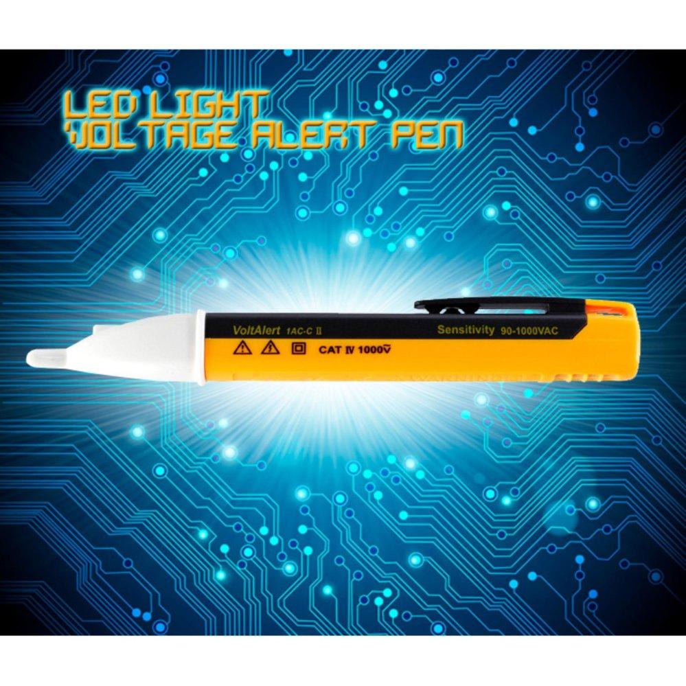 AC 90-1000 V non-kontak tegangan penguji Lampu LED Peringatan Tegangan Pen   Tegangan Tester Pen- intl