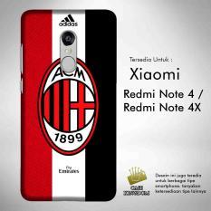 Ac Milan 4 Casing Custom Hardcase Xiaomi Redmi Note 4   4X Case Cover