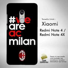 Ac Milan 5 Casing Custom Hardcase Xiaomi Redmi Note 4   4X Case Cover