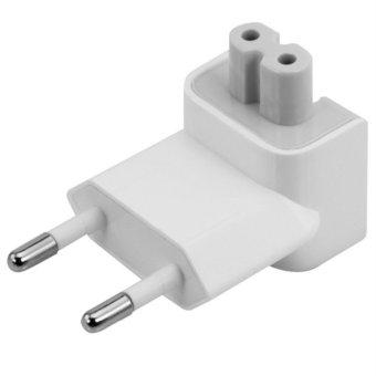 AC Plug Power Adapor 2 Pin Competible / Adapter Kaki 2 Untuk Apple/iPad/Macbook - White