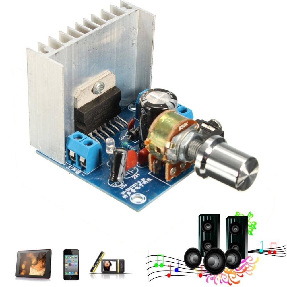 Ac Dc 12 V Tda7297 2X15 W Digital Audio Amplifier Diy Kit Dual Channel Modul Not Specified Diskon