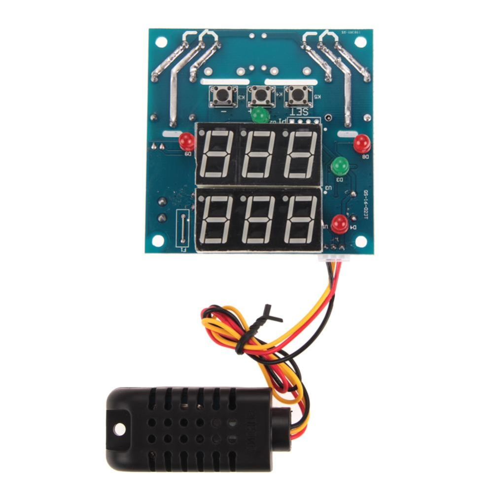 Ac Dc 12V Intelligent Temperature Humidity Controller Relay Thermostat Intl Oem Diskon 40
