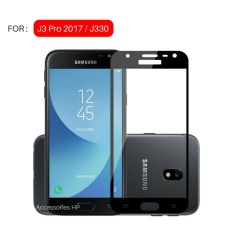 Accessories HP 3D Full Cover Tempered Glass Warna Screen Protector for Samsung Galaxy J3 Pro 2017 J330 - Black