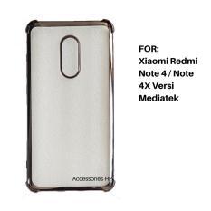 Accessories HP Anti Shock / Anti Crack List Chrome Soft Case for Xiaomi Redmi Note 4 / Note 4X Versi Mediatek - Hitam