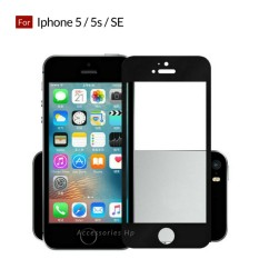 Accessories Hp Full Cover Tempered Glass Warna Screen Protector for Iphone 5 / 5s / SE - Black