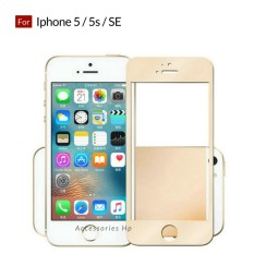 Full Cover Tempered Glass Warna Screen Protector for Iphone 5 / 5s / SE - Gold