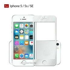 Accessories Hp Full Cover Tempered Glass Warna Screen Protector for Iphone 5 / 5s / SE - White