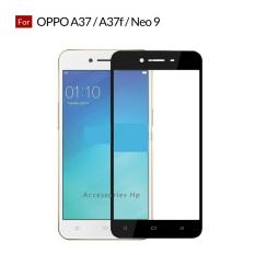 Accessories Hp Full Cover Tempered Glass Warna Screen Protector for Oppo A37 / A37f / Neo 9 - Black