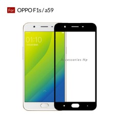 Accessories Hp Full Cover Tempered Glass Warna Screen Protector for Oppo F1s / A59 - Black