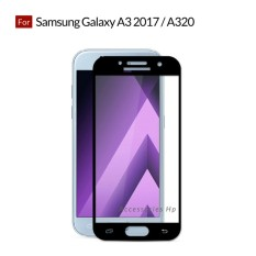 Accessories Hp Full Cover Tempered Glass Warna Screen Protector for Samsung Galaxy A3 2017 / A320 - Black