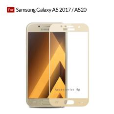 Accessories Hp Full Cover Tempered Glass Warna Screen Protector for Samsung Galaxy A5 2017 / A520 - Gold