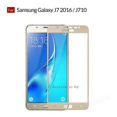 Accessories Hp Full Cover Tempered Glass Warna Screen Protector for Samsung Galaxy J7 2016 / J710 - Gold