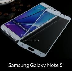 Accessories Hp Full Cover Tempered Glass Warna Screen Protector for Samsung Galaxy Note 5 - White
