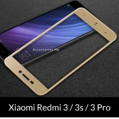 Accessories Hp Full Cover Tempered Glass Warna Screen Protector for Xiaomi Redmi 3 / 3s / 3 Pro - Gold