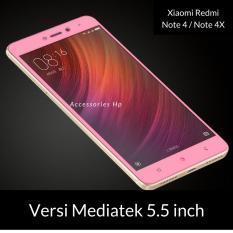 Accessories Hp Full Cover Tempered Glass Warna Screen Protector for Xiaomi Redmi Note 4 / Note 4X Versi MEDIATEK 5.5 Inch - Rosegold