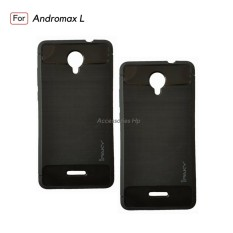 Accessories HP Premium Quality Carbon Shockproof Hybrid Case For Andromax L - Black