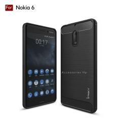 Accessories HP Premium Quality Carbon Shockproof Hybrid Case For Nokia 6 - Black