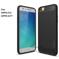 Accessories HP Premium Quality Carbon Shockproof Hybrid Case for OPPO F3 - Black