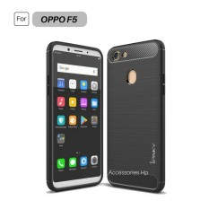 Accessories HP Premium Quality Carbon Shockproof Hybrid Case for OPPO F5 - Black