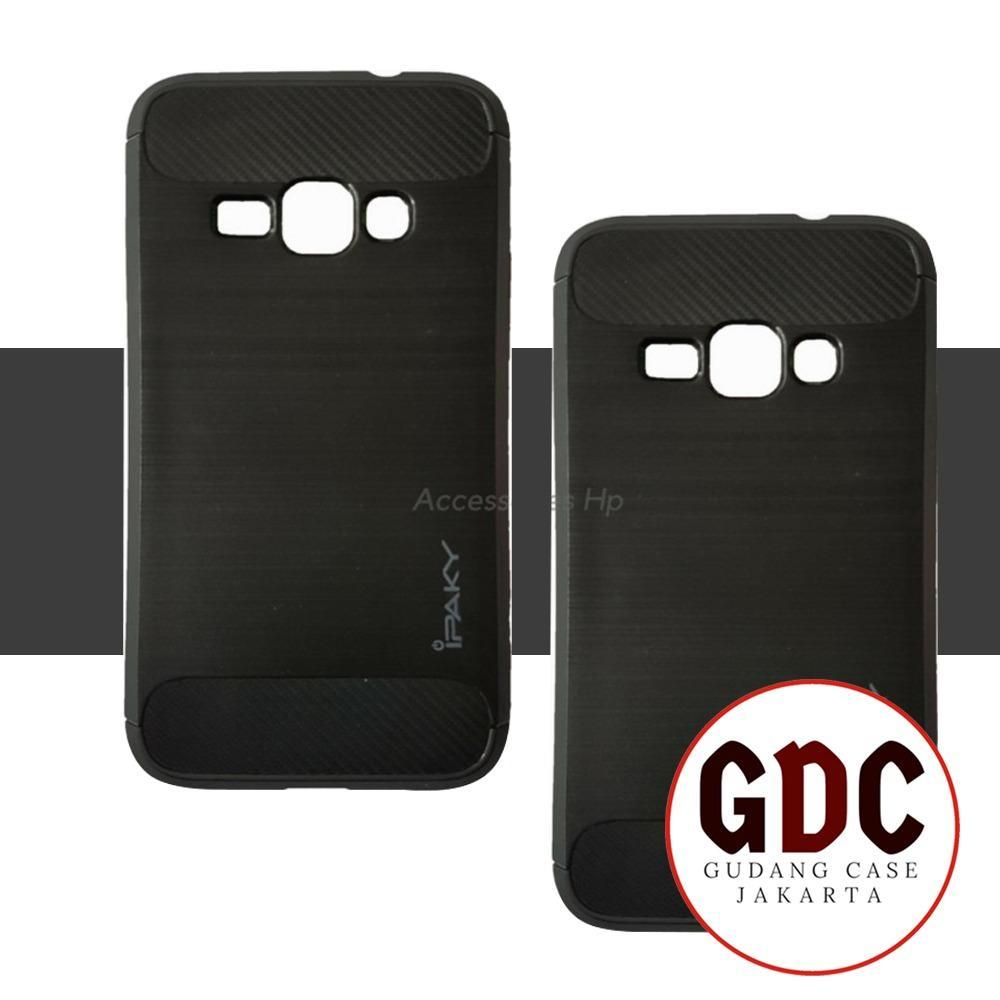 Accessories HP Premium Quality Carbon Shockproof Hybrid Case For Samsung Galaxy J1 2016 / J120 - Black