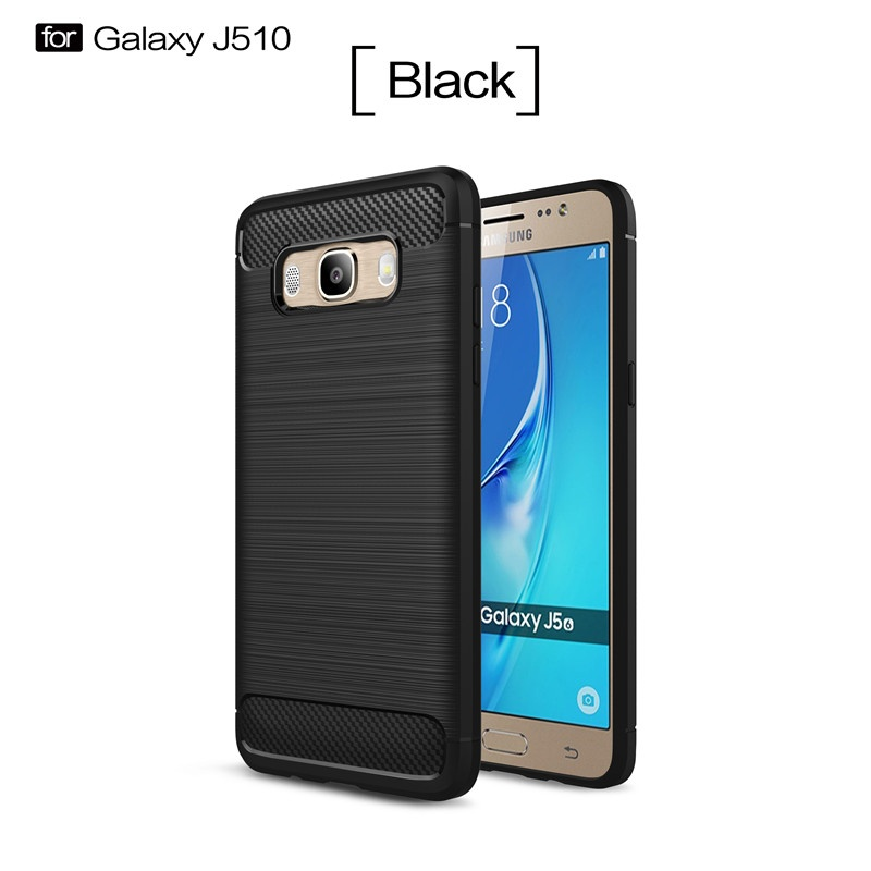 Premium Quality Carbon Shockproof Hybrid Case for Samsung Galaxy J5 2016 / J510 - Black