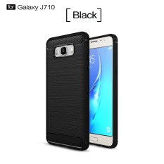 Accessories HP Premium Quality Carbon Shockproof Hybrid Case for Samsung Galaxy J7 2016 / J710 - Black