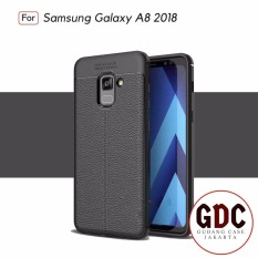 Accessories Hp Premium Ultimate Shockproof Leather Case For Samsung Galaxy A8 2018 - Black
