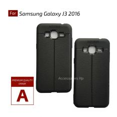 Accessories Hp Premium Ultimate Shockproof Leather Case For Samsung Galaxy J3 2016 - Black