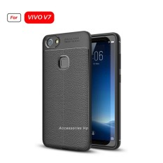 Accessories Hp Premium Ultimate Shockproof Leather Case For VIVO V7 - Black