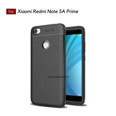 Accessories Hp Premium Ultimate Shockproof Leather Case For Xiaomi Redmi Note 5A Prime - Black