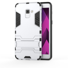Accessories HP Transformer Rugged Kickstand Slim Armor Hardcase for Samsung Galaxy A5 2018 / A530 - Silver