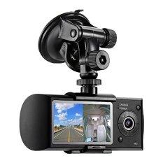 "Accfly�� 2.7""�x9D Hign Definition LCD Car CamcorderDVRVideoRecorderDash-Cam Dual Camera Front Driving Recorder CarDVRGPSLoggerG-Sensor - intl"