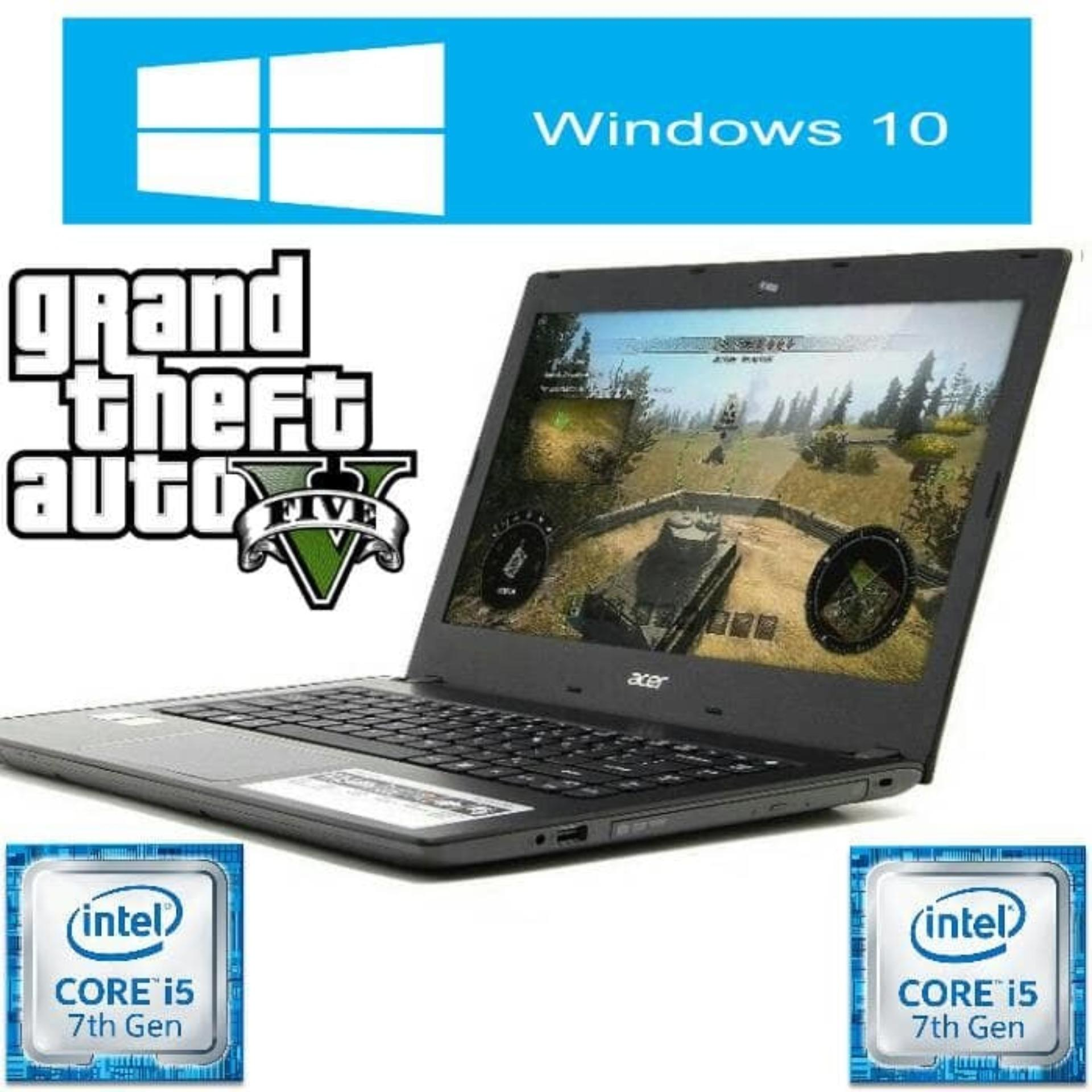 Acer Aspire E5-475G-55BD Laptop Game Windows 10 Processor I5-7200U (kabylake) RAM 4GB HDD 1TB vga 940MX 2GB DDR5 - Promo 2018