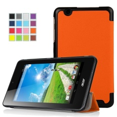 Acer Iconia ONE 7 B1-750 Case, Ultra-Slim and Ultra-light PU Folio Case Stand Cover With Smart Cover Auto Wake / Sleep Feature for Acer Iconia ONE 7 B1-750 Tablet (Kast Orange)