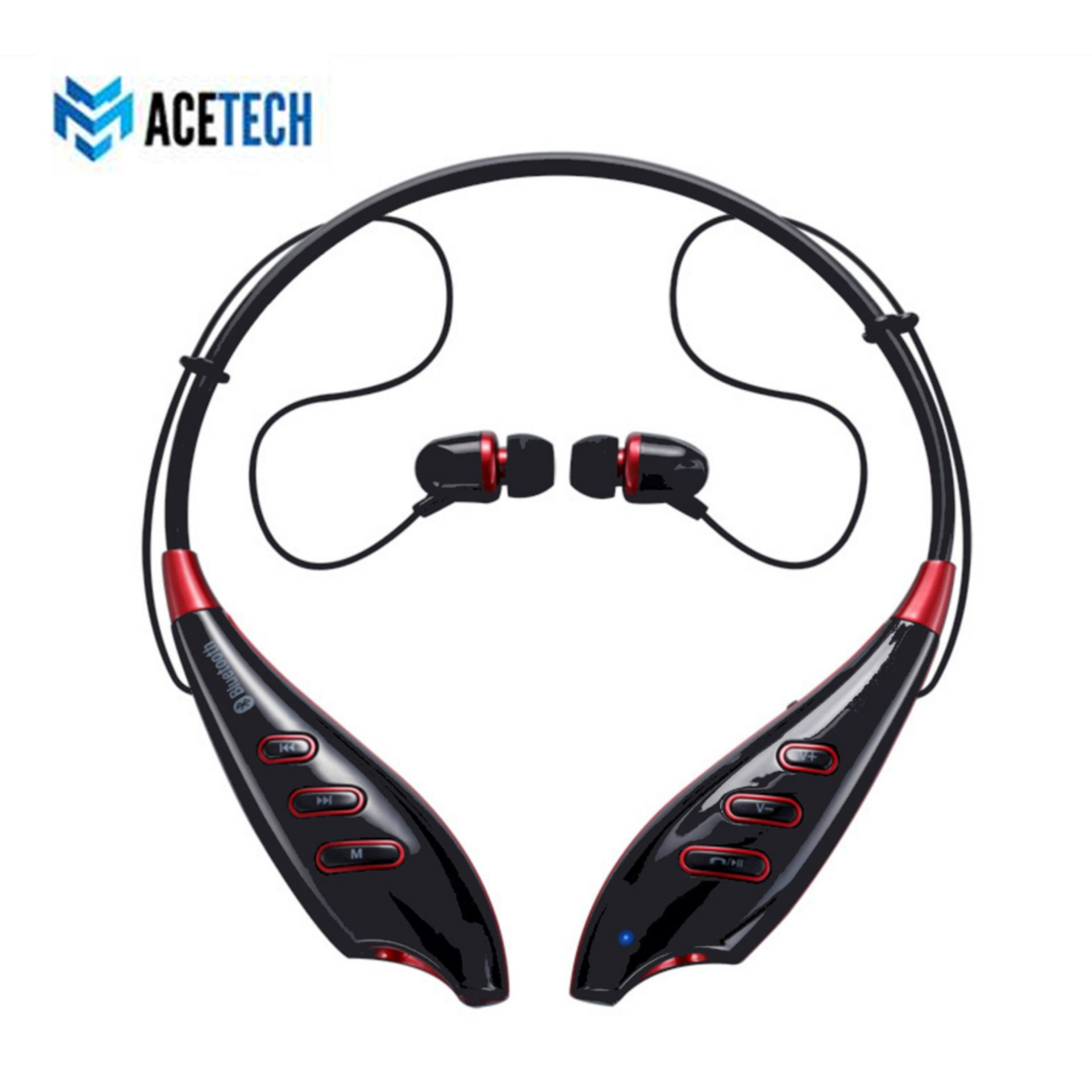 Acetech Headset Bluetooth 4 0 Stereo Headphone Support FM TF Dengan Mikrofon Untuk iPhone Samsung S740T
