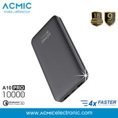 Dimana Beli Acmic A10Pro Power Bank 10000 Mah Quick Charge 3 Black Garansi 18 Bulan Acmic