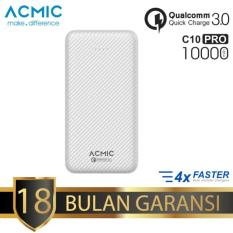 Jual Acmic C10Pro Power Bank 10000 Mah Quick Charge 3 White Carbon Garansi 18 Bulan