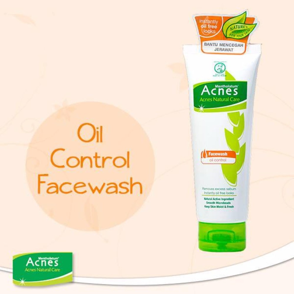 Acnes Natural Care Oil Control Face Wash 100gr Spot Obat Jerawat Treatment Series