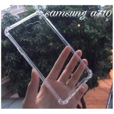 Acrylic Anticrack Mika Case for Samsung Galaxy A710 / A7 2016 – Belakang Acrilic Keras – Pinggir Silicone Soft – Clear