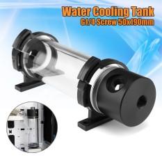Akrilik Silinder Reservoir Tangki Air G1/4 50 Mm X 190 Mm untuk PC Pendingin Cair-Intl