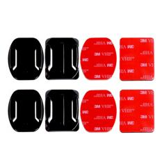 Action Cam 2x Flat and 2x Curved Mounts w/ Adhesive Tapes for SJCAM SJ4000/SJ5000/M10 GoPro HERO 4/3+/3 Yicam Xiaomi Yi Camera Bpro