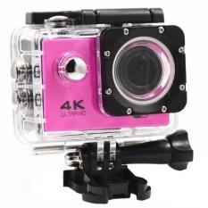 "Action camera F60 Ultra HD 4K WiFi Underwater 30M Sports Camera2.0""LCD 1080p 60fps Camera Car Recorder elmet Cam Diving SportsDV(Pink) - intl"