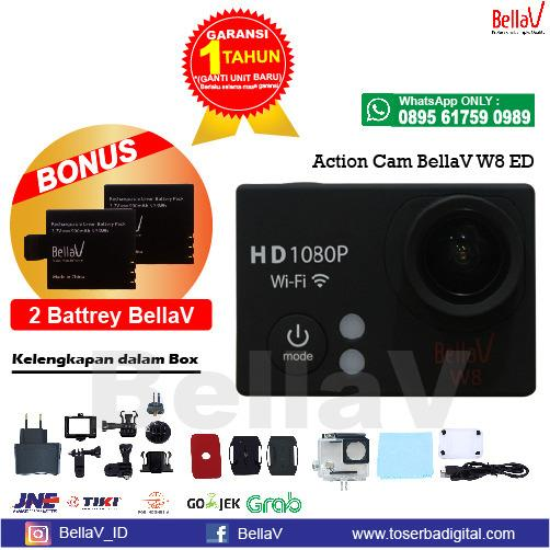 Diskon Action Camera W8 Ed Free 2 Pcs Battery Wifi Full Hd Full Acc Branded