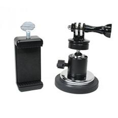 Aksi Mount®Dilapisi Karet Kamera Magnetis & Dudukan Telepon dengan Kepala Bola untuk GoPro, Kamera Olahraga, atau Telepon. Bagus untuk Video Gambar, Livestreaming atau Wod. (Xl Karet Dilapisi Magnet)-Intl