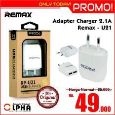 Adapter Charger Remax Proda RP-U21 2.1A Dual Port - ORIGINAL - Android Samsung Xiaomi Iphone